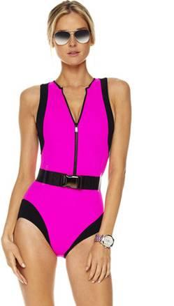 maillot de bain rose fluo pale a frange fluo bandeau push up flashy femme pas cher. Black Bedroom Furniture Sets. Home Design Ideas